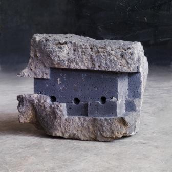 Janus Basaltlava Uli Gsell Skulptur